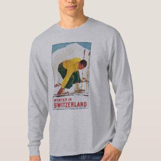 Switzerland Ski Vintage Travel Poster Shirt