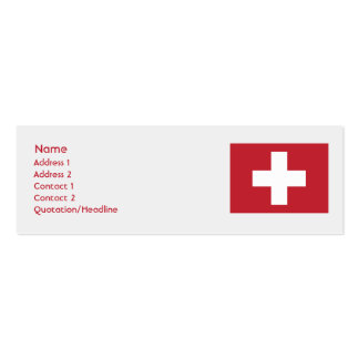 Switzerland - Skinny Double-Sided Mini Business Cards (Pack Of 20)