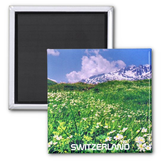 SWITZERLAND SQUARE MAGNET