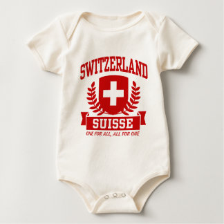 Switzerland Suisse Baby Bodysuit
