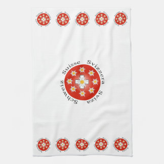 Switzerland - Suisse - Svizzera of table-ware Tea Towel