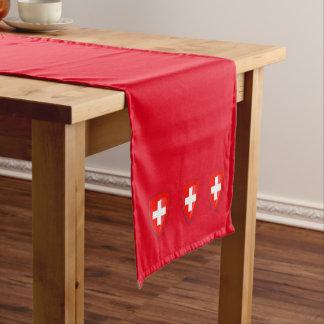 Switzerland Swiss coat of arms flag red Short Table Runner
