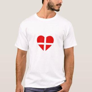 Switzerland/Swiss Flag inspired hearts T-Shirt