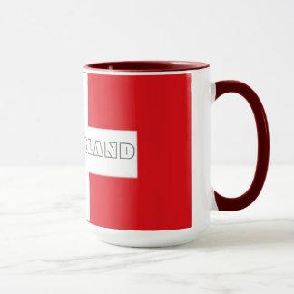 Switzerland Swiss flag mug