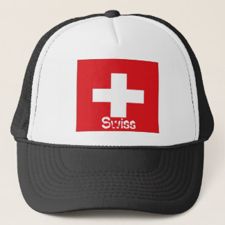 Switzerland Swiss flag trucker mesh souvenir hat