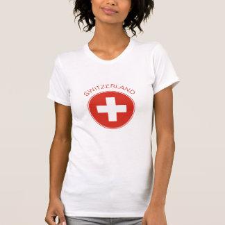 Switzerland - Swiss Flag Women's T-Shirt. T-Shirt