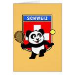 Switzerland Tennis Panda Cards