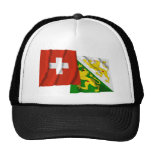 Switzerland & Thurgau Waving Flags Mesh Hat