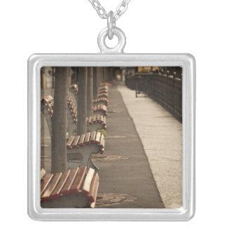 Switzerland, Ticino Canton, Lugano. Lakefront Silver Plated Necklace