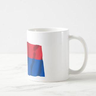 Switzerland & Ticino Waving Flags Coffee Mug