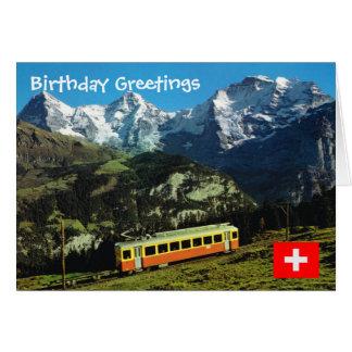 Switzerland,  Train to Jungfraujoch Greeting Card