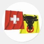 Switzerland & Uri Waving Flags