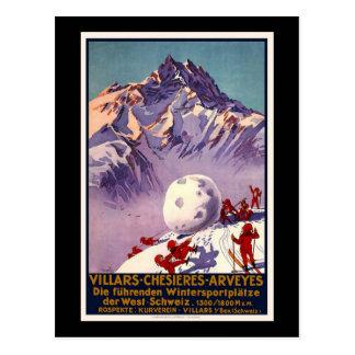 Switzerland Villars Chesieres Arveyes Postcard