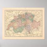 Switzerland Vintage 1923 Map print