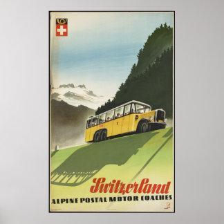 Switzerland Vintage Travel Poster Ad Retro Prints