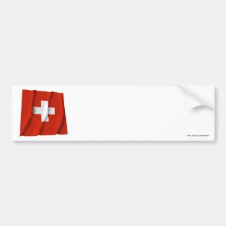 Switzerland Waving Flag Bumper Sticker