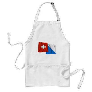 Switzerland & Zurich Waving Flags Standard Apron