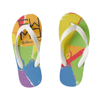 SWMO: Colorful Coll Summer Flip Flops