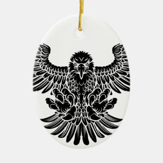 Swooping Eagle Ceramic Oval Decoration