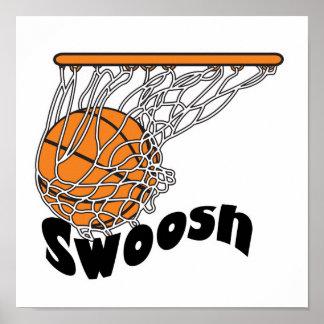 swoosh basketball poster