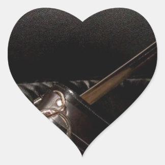 SWORD AND COLLAR HEART STICKER