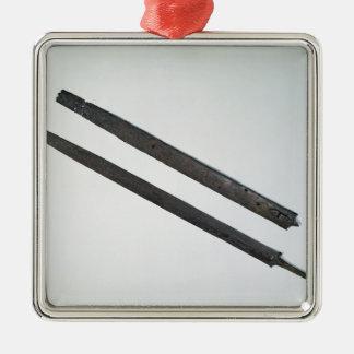Sword and sheath, from La Tene, Switzerland Silver-Colored Square Decoration