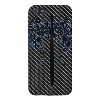 Sword and wings tribal cool awesome tattoo art fan iPhone 5/5S case