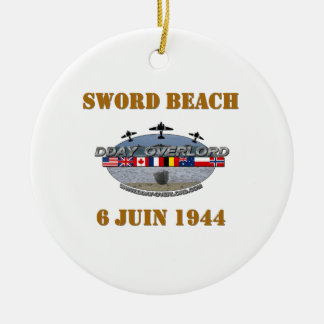 Sword Beach 1944 Round Ceramic Decoration