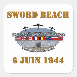 Sword Beach 1944 Square Stickers