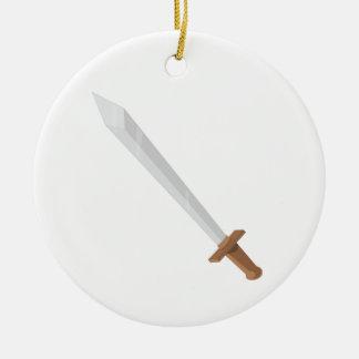 Sword Round Ceramic Decoration