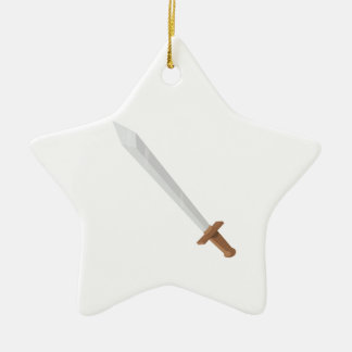 Sword Ceramic Star Decoration