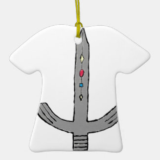 Sword Double-Sided T-Shirt Ceramic Christmas Ornament