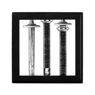 Sword Engraved Woodcut Etching Illustration Gift Box