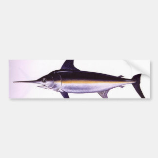 sword fish bumper sticker