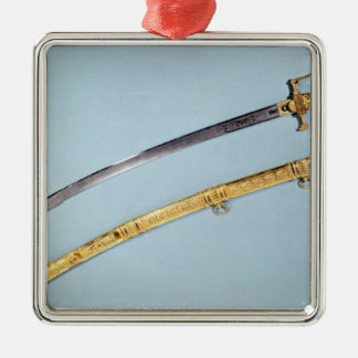 Sword given to Napoleon I  by the Directoire Silver-Colored Square Decoration