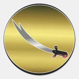 Sword of Ali Round Sticker