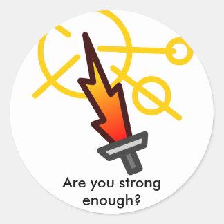 Sword of Fire Round Sticker
