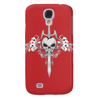 Sword Skull - RED Galaxy S4 Cases