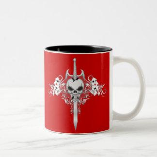 Sword Skull - RED Coffee Mug