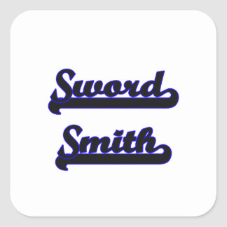 Sword Smith Classic Job Design Square Sticker