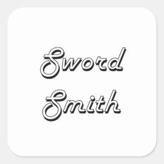 Sword Smith Classic Job Design Square Sticker