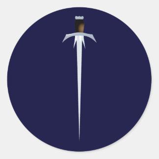 Sword sword round sticker