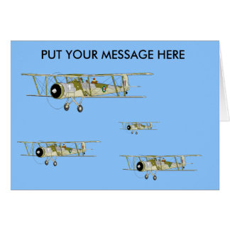 Swordfish Biplane  greetings card