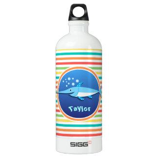 Swordfish; Bright Rainbow Stripes SIGG Traveller 1.0L Water Bottle