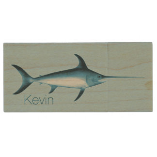 Swordfish Custom Wooden USB Drive Wood USB 2.0 Flash Drive