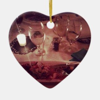 Swordfish Dinner Ceramic Heart Decoration