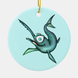 Swordfish Round Ceramic Decoration
