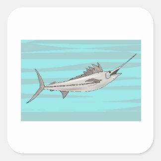 Swordfish Square Stickers