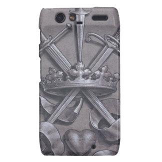 Swords Crown and Heart Motorola Droid RAZR Cover