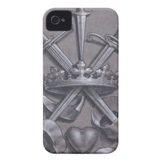 Swords Crown and Heart iPhone 4 Cover